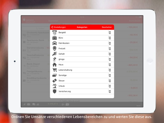 Sparkasse+ für iPad Screenshot