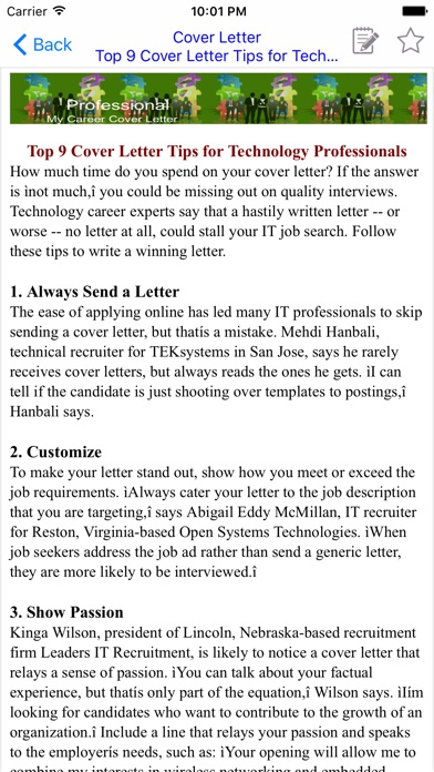 cover letters tips