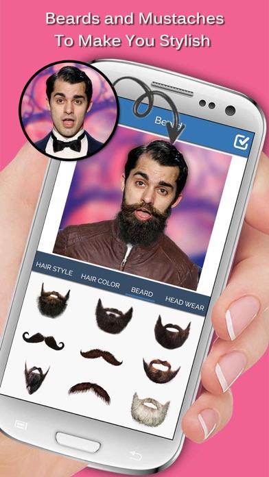 Men Makeup DressBeardHairstyles For Man On The App Store - Hairstyle beard app