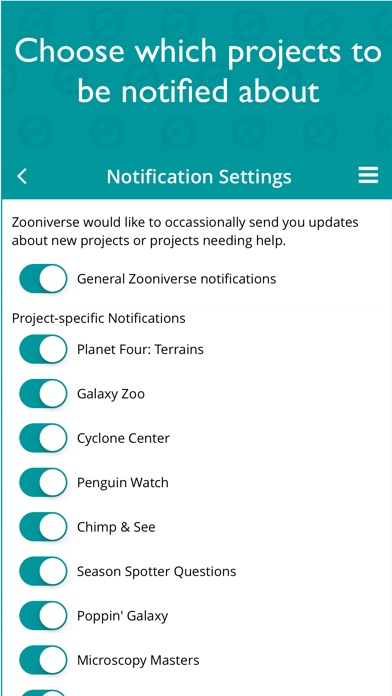 Screenshot 3 for Zooniverse's iPhone app'