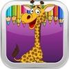 Animal Games Coloring Book Giraffes Version