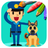 Preschool Coloring Drawing Hero Police Page Game Wiki