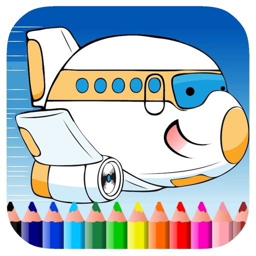 Free Airplane Coloring Book Game Edition iOS App