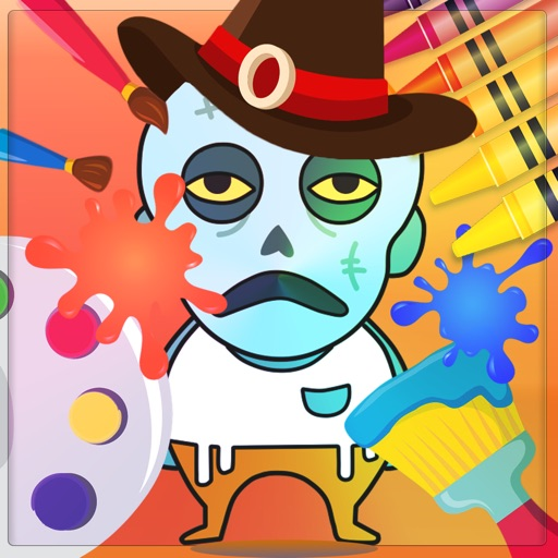 Zombie Paint Book - Zombie catchers painting game iOS App