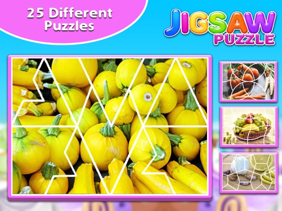 Screenshot #2 for Fruits & Vegetables Jigsaw Puzzle - Fun With Foods