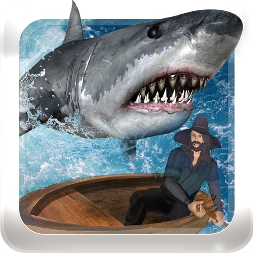 Raft survival 3d hungry shark world fishing game app for Shark fishing games