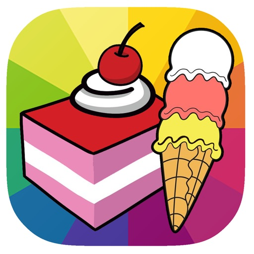 Good Coloring Page Game Cake And Ice Cream iOS App