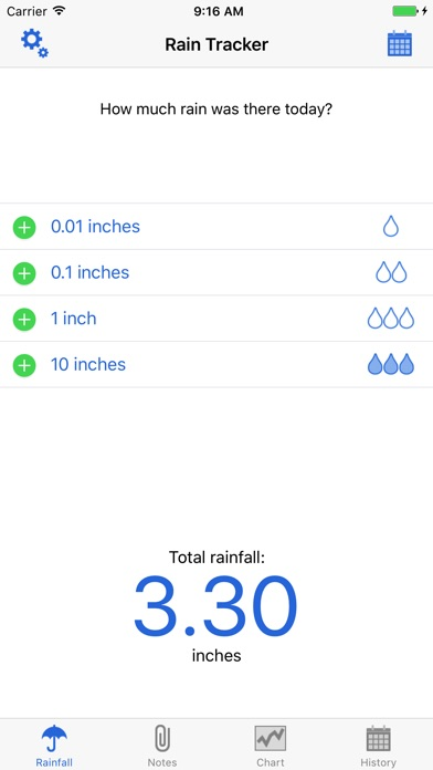 RainTracker - Daily Weather GaugeScreenshot of 1