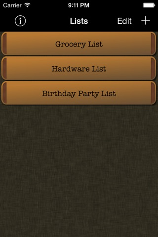 Simple Grocery List screenshot 1