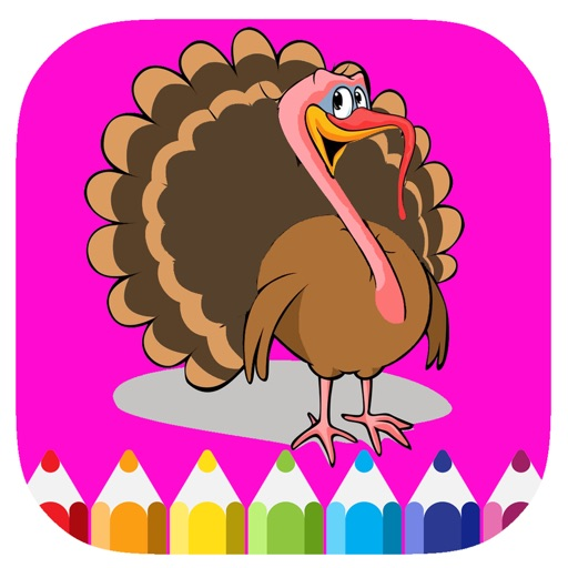Coloring Page Turkeys Game For Kids Edition iOS App