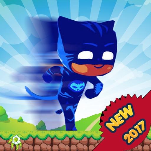 Super Blue Cat Pj Masks Walk iOS App
