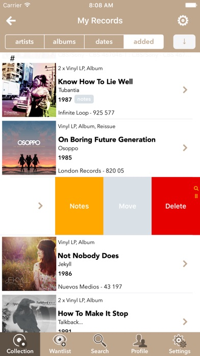 Discographic for Discogs Screenshots
