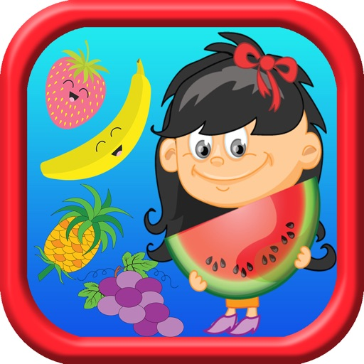 Fruit & Vegetable Coloring Painting Book for Kids iOS App