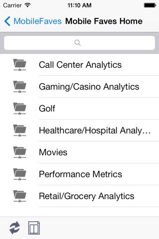 Mobile Faves screenshot 1