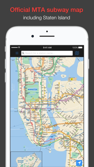 Nyc Mta Subway Map Trip Planner.New York Subway Mta Map And Route Planner On The App Store