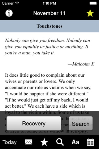 Touchstones: Daily Meditations for Men in Recovery screenshot 3
