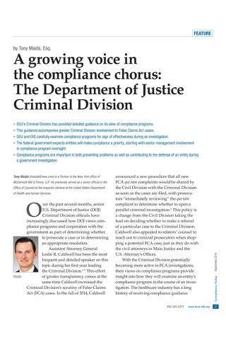 HCCA Compliance Today Magazine screenshot 4