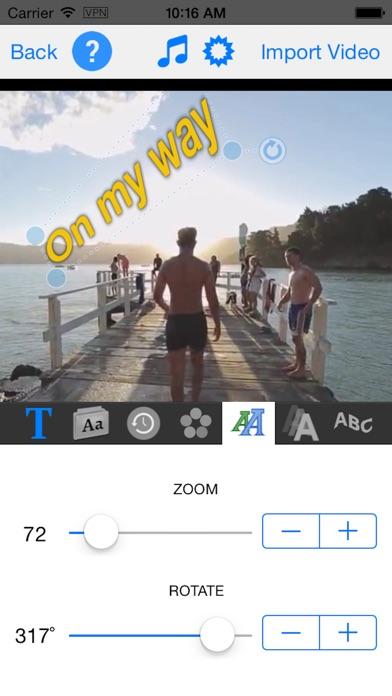 TextVideo - Text on Video Screenshot