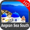 Marine: Aegean Sea (South) HD - GPS Map Navigator