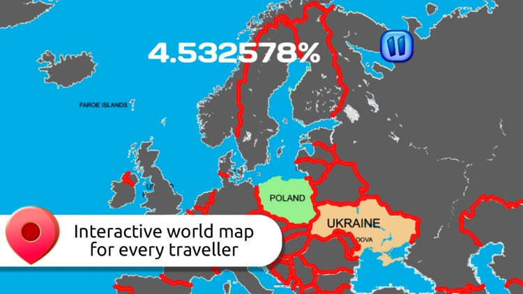 Visited countries map pro travelers book by travel and play visited countries map pro travelers book gumiabroncs Gallery