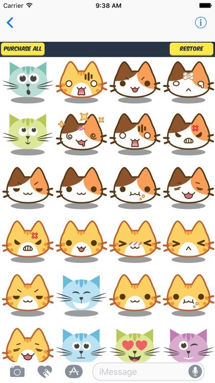 anime cat stickers 80 anime cat emoji
