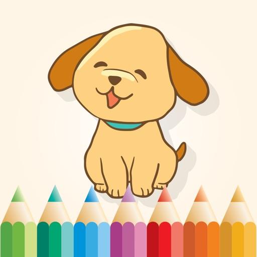 Livre à colorier des chiens pour les petits enfant