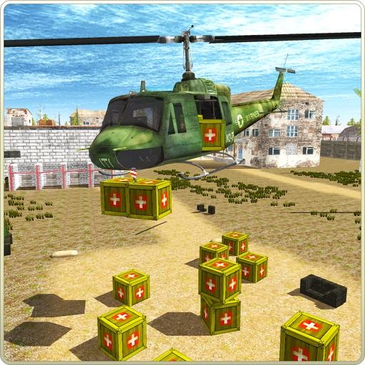 Relief Helicopter Cargo Sim 3D iOS App