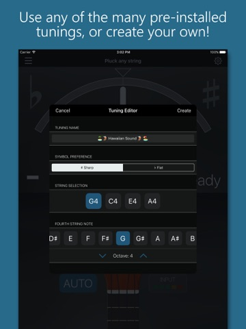 Precision Ukulele Tuner - with Chords & Metronome screenshot 4