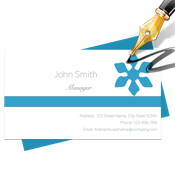 Blue Penguin Business Card Designer