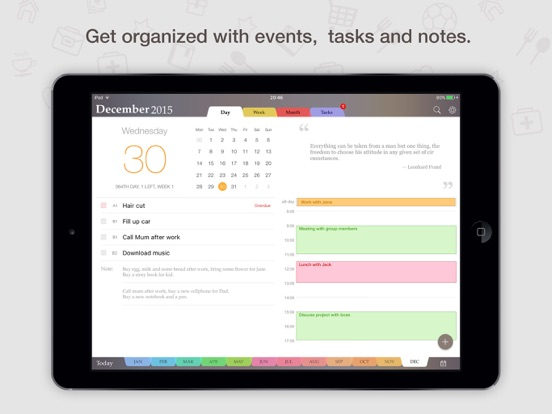 planner pro daily calendar personal organizer on the app store. Black Bedroom Furniture Sets. Home Design Ideas