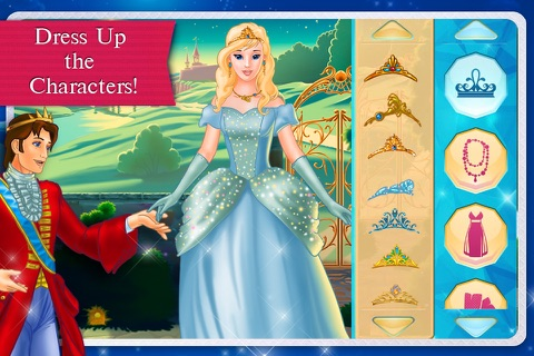 Cinderella Fairy Tale Dress Up and Storybook HD screenshot 2