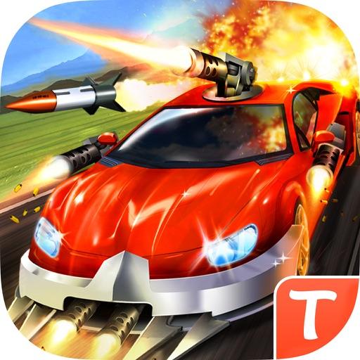 Road Riot Combat Racing- schnelle Autos, große Waffen