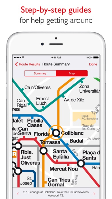 Barcelona Metro  TMB map and route planner on the App Store