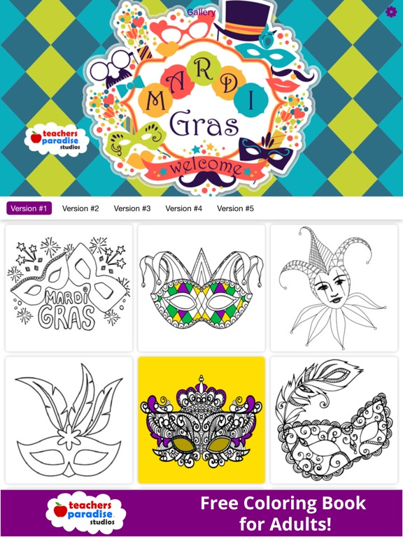 Coloring Book For Adults Mardi Gras Fat Tuesday On The App Store
