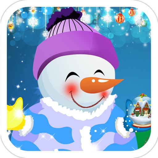 Christmas Snowman Decoration -Fashion dress iOS App