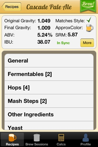 Brewer's Friend – Homebrew Recipe Builder & Calc. screenshot 2