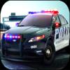 Rosa Forero - A Police Car Racing - In Pursuit artwork