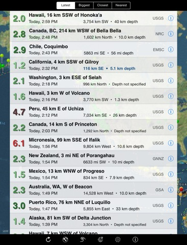 QuakeWatch: Latest Earthquakes screenshot 1