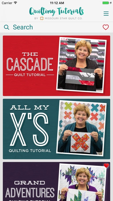 Screenshots of Quilting Tutorials by MSQC for iPhone
