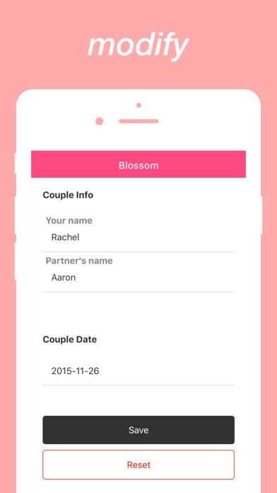 Screenshot #5 for Blossom : Calculate Loving Days