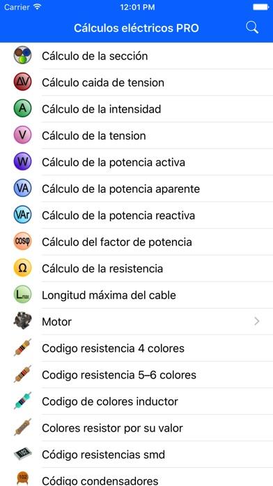 download Cálculos Eléctricos PRO apps 4