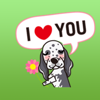 download Funny English Setter Dog Stickers