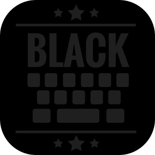 Black Keyboard Theme - Dark Keypad Design & Emoji iOS App