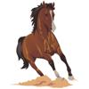 Woozy Apps, LLC - HorseMoji - Quarter Equestrian Horse Emoji Sticker  artwork