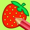 Strawberry Coloring Book Game Free Version