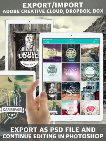 Vintage Design Logo Maker - Poster & Logo Creator screenshot 2
