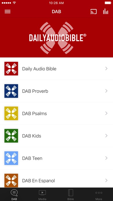 Daily Audio Bible App Screenshot