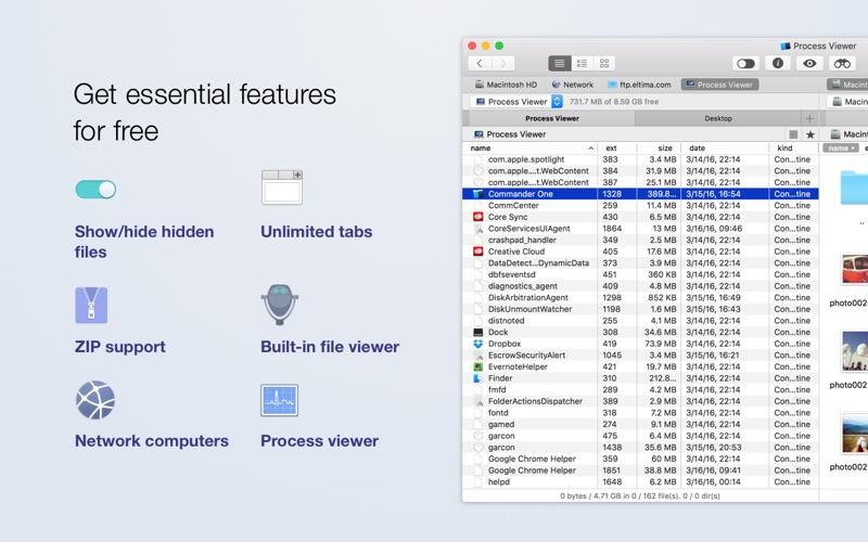Screenshot #2 for Commander One - dual-pane file manager