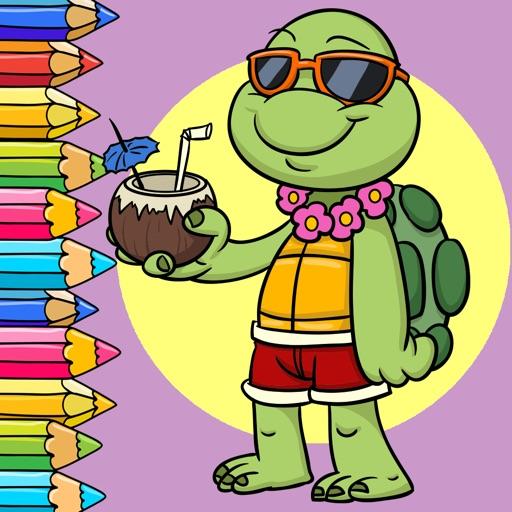 Libro di colorazione poco tartaruga e amici per warunee - Pagine di colorazione tartaruga ...