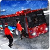 聖誕晚會巴士模擬3 d 旅遊滑雪勝地